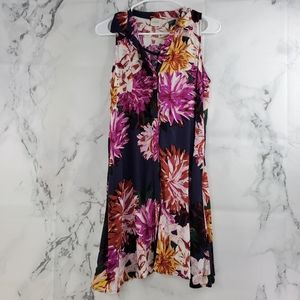 Cupio Floral Casual Button Front Blouse
